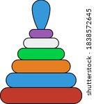 pyramid toy icon. editable...