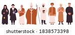 people of different religions... | Shutterstock .eps vector #1838573398