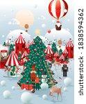 christmas winter wonderland...   Shutterstock .eps vector #1838594362
