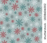 crayon snowflakes pattern.... | Shutterstock .eps vector #1838606002