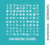 music flat icons set  for... | Shutterstock .eps vector #183864692