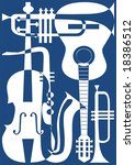 abstract blue musical...   Shutterstock .eps vector #18386512