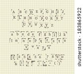 set of rubber stamp characters... | Shutterstock .eps vector #183865922
