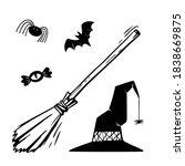 Halloween Objects Set. Vector...