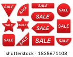 price tags collection. sale red ... | Shutterstock .eps vector #1838671108