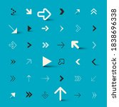 arrows collection on blue... | Shutterstock .eps vector #1838696338