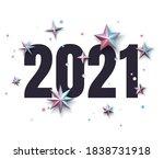 2021 black sign with metallic...   Shutterstock .eps vector #1838731918