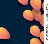yellow balloons with threads on ...   Shutterstock .eps vector #1838731942