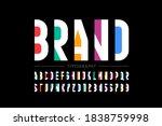modern minimal style font ... | Shutterstock .eps vector #1838759998
