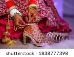 Indian Bridal Wearing Sandal ...