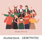 christmas party. vector...   Shutterstock .eps vector #1838794702