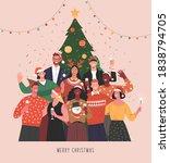 christmas party. vector...   Shutterstock .eps vector #1838794705
