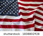 close up of rippled american... | Shutterstock . vector #1838802928