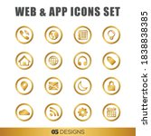 gold web icons  app icons...