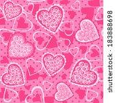 pink hearts. seamless vector... | Shutterstock .eps vector #183888698