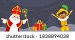 saint nicholas and kid... | Shutterstock .eps vector #1838894038