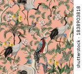 seamless pattern in chinoiserie ... | Shutterstock .eps vector #1838903818