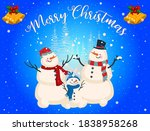 merry christmas greeting card.... | Shutterstock .eps vector #1838958268