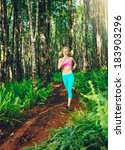 woman running in nature. trail... | Shutterstock . vector #183903296
