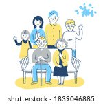 three generation family with a... | Shutterstock . vector #1839046885