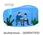 family counseling a father is... | Shutterstock .eps vector #1839047935