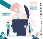 mental health care treatment... | Shutterstock .eps vector #1839054142
