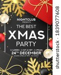 christmas party poster... | Shutterstock .eps vector #1839077608