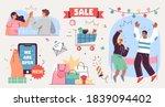 grand opening ceremony... | Shutterstock .eps vector #1839094402