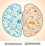 network brain | Shutterstock .eps vector #183909485