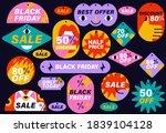 vector set of sale discount... | Shutterstock .eps vector #1839104128