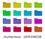 folder color icon collection.... | Shutterstock .eps vector #1839108238