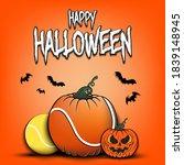 happy halloween. template... | Shutterstock .eps vector #1839148945