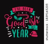 christmas lettering quote.... | Shutterstock .eps vector #1839165205