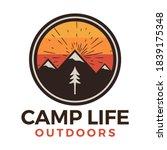 camp life outdoors logo  retro... | Shutterstock .eps vector #1839175348