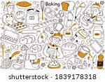baking doodle set. collection... | Shutterstock .eps vector #1839178318