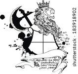 lion heraldic coat of arms...   Shutterstock .eps vector #183918902