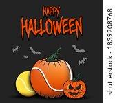 happy halloween. template... | Shutterstock .eps vector #1839208768