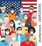 diverse multiethnic people... | Shutterstock .eps vector #1839235345