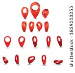 set of vector location icons on ... | Shutterstock .eps vector #1839253255