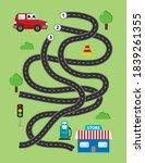 labyrinth for preschool... | Shutterstock .eps vector #1839261355