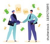 two businessmen or colleagues... | Shutterstock .eps vector #1839270895