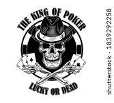 gangster casino skull logo.... | Shutterstock .eps vector #1839292258