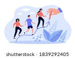 people increasing on hand drawn ... | Shutterstock .eps vector #1839292405