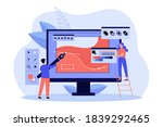 tiny people drawing with pen in ...   Shutterstock .eps vector #1839292465
