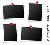 realistic blank photo card... | Shutterstock .eps vector #1839314158