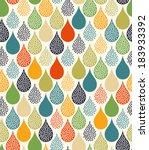 seamless water drops pattern   Shutterstock .eps vector #183933392