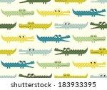 seamless crocodile cartoon... | Shutterstock .eps vector #183933395