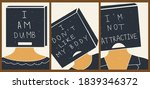 a set of three posters with... | Shutterstock .eps vector #1839346372
