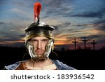 Roman Soldier With Crosses In...