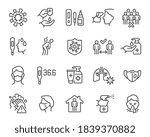 coronavirus and flu updated... | Shutterstock .eps vector #1839370882